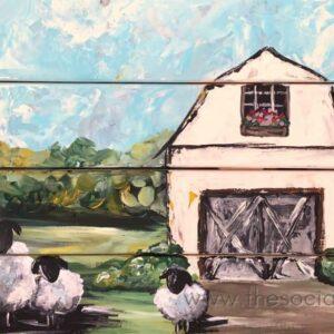 Rustic Barn w/ Sheep