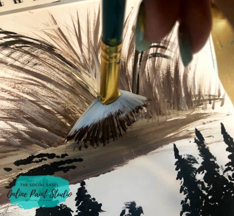 Fan Brush Painting Techniques