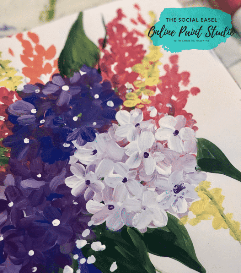 Painting Petals with Filbert Paint Brush