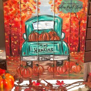Pumpkin Truck Template