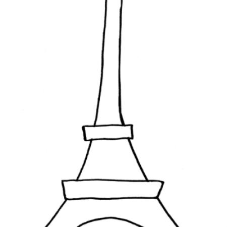 16×20 Eiffel Tower Template