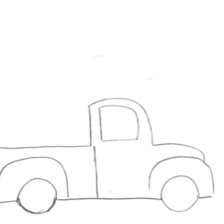 16×20 Side view Truck Template
