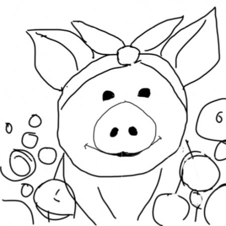 18×18 Pig Template