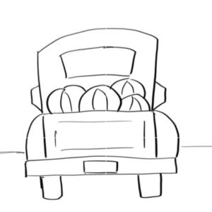 18×18 Pumpkin Truck Template