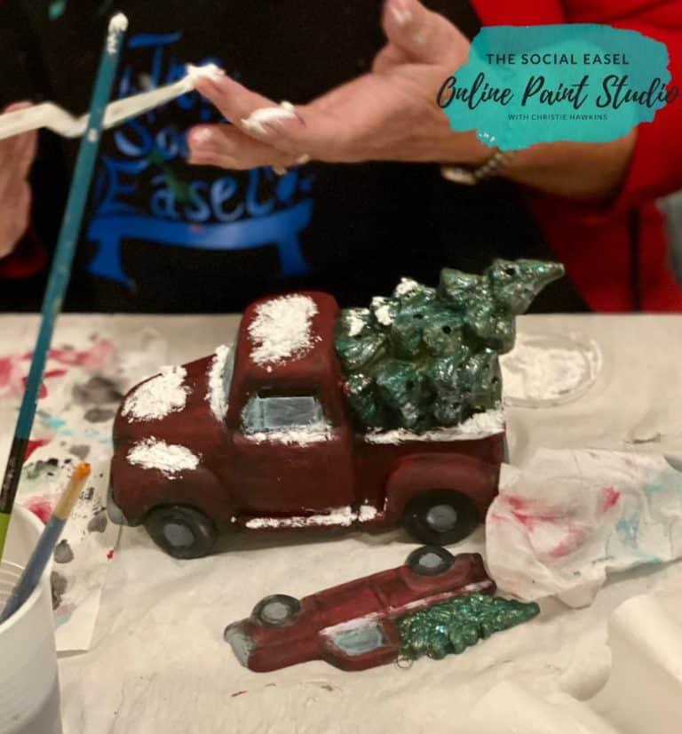 DIY Ceramic Christmas Trucks